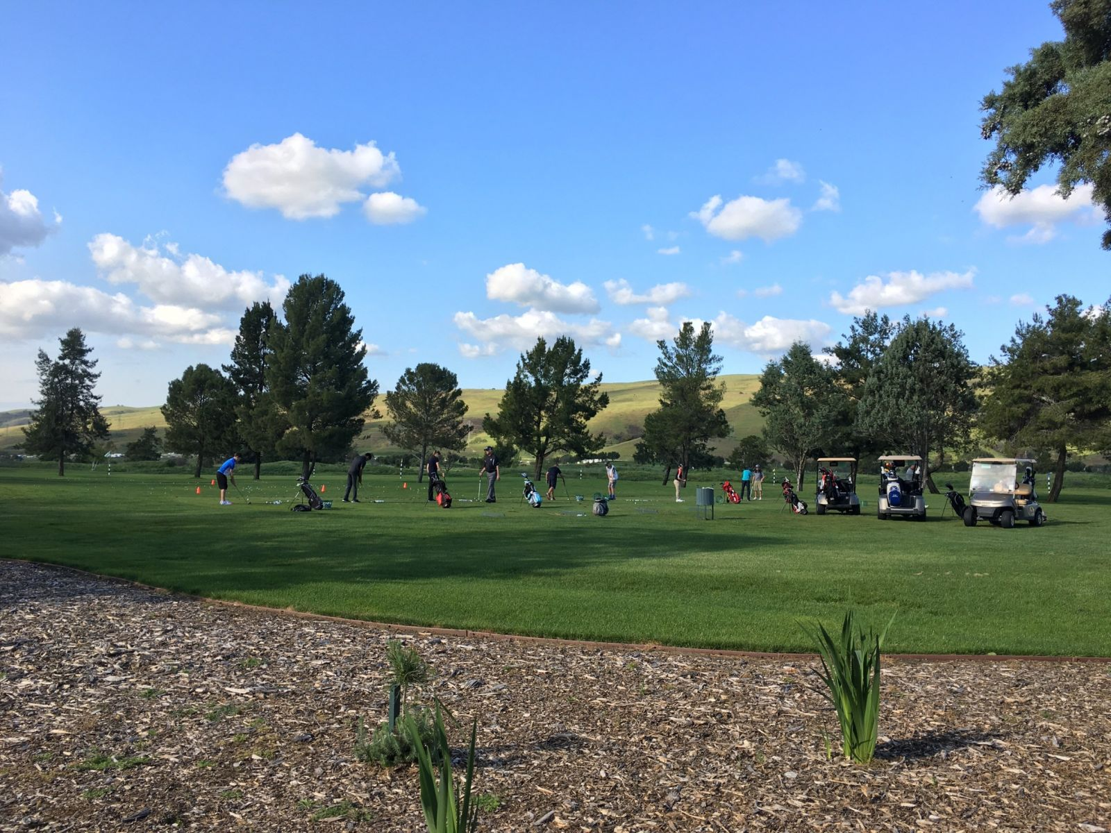 the driving range at coyote creek golf club