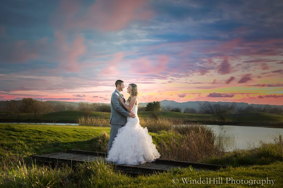 Sunset wedding at Coyote Creek